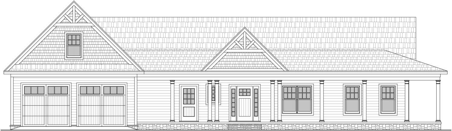 Custom home drawing for a project near Blowing Rock NC