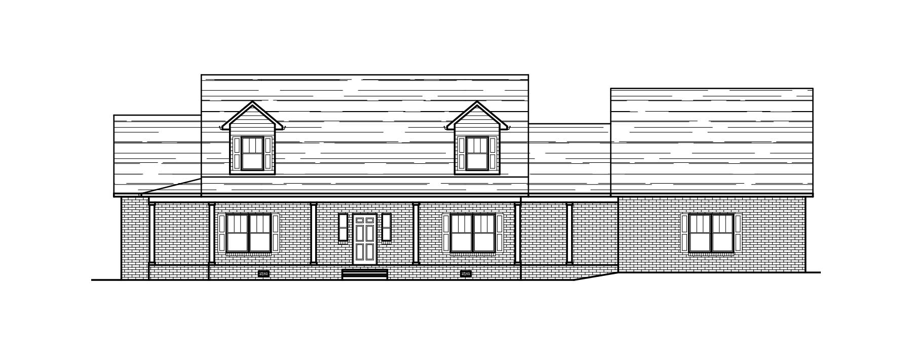 Elevation drawing of current custom home project