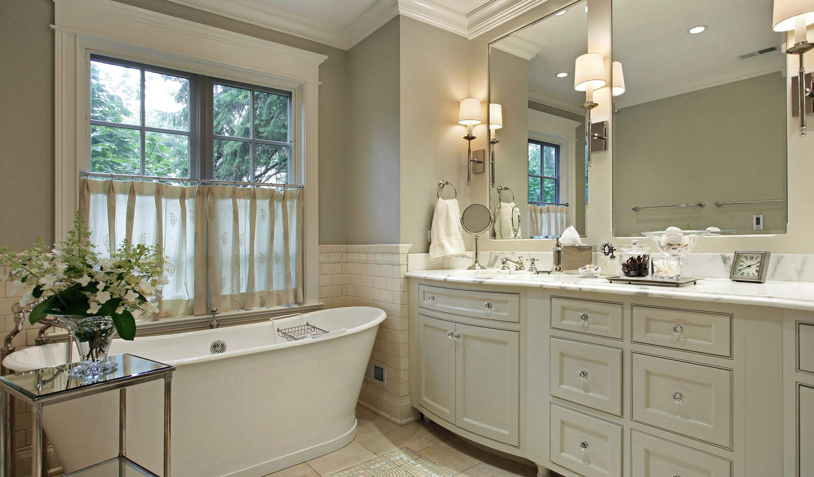 A bathroom remodeled by JCM Custom Homes