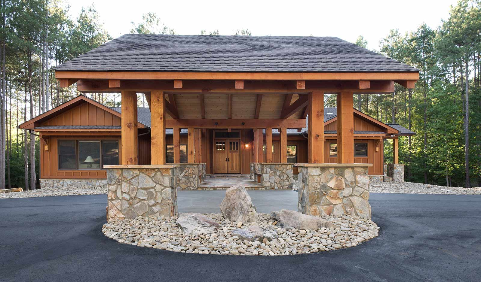 Exterior of a custom-built home by JCM Custom Homes